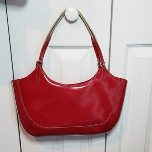 Dkny Bags - DKNY Red Patent Leather Shoulder Bag
